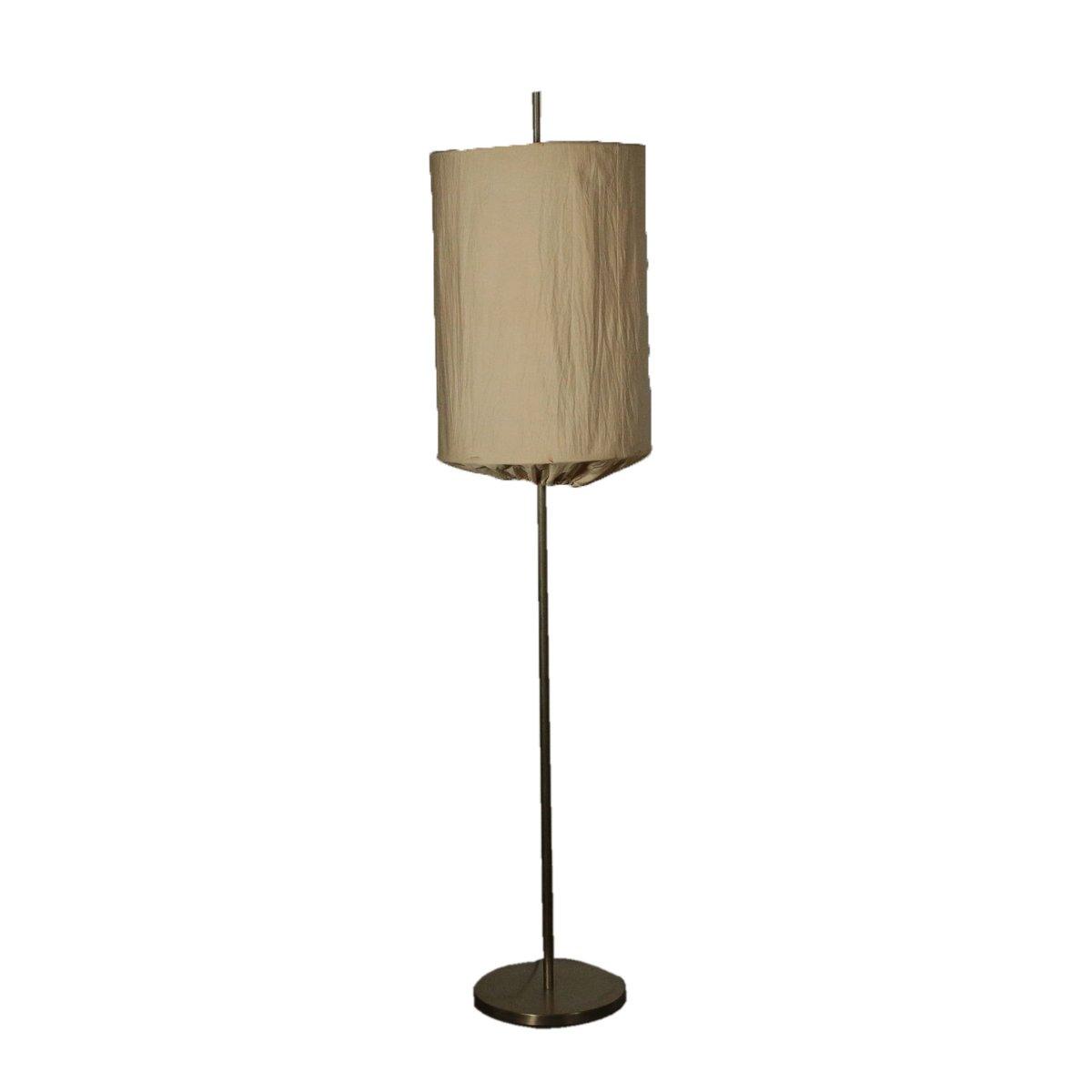 italienische stehlampe mit s ule aus aluminium stoffschirm 1960er hauskrankenpflege isabella. Black Bedroom Furniture Sets. Home Design Ideas