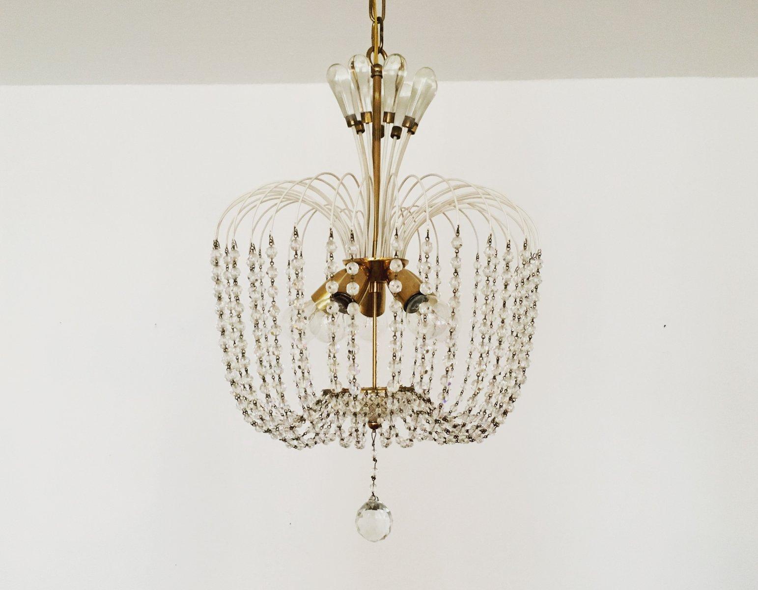 Kronleuchter aus Kristallglas aus der Vereinigte Werkstätten Collectio...