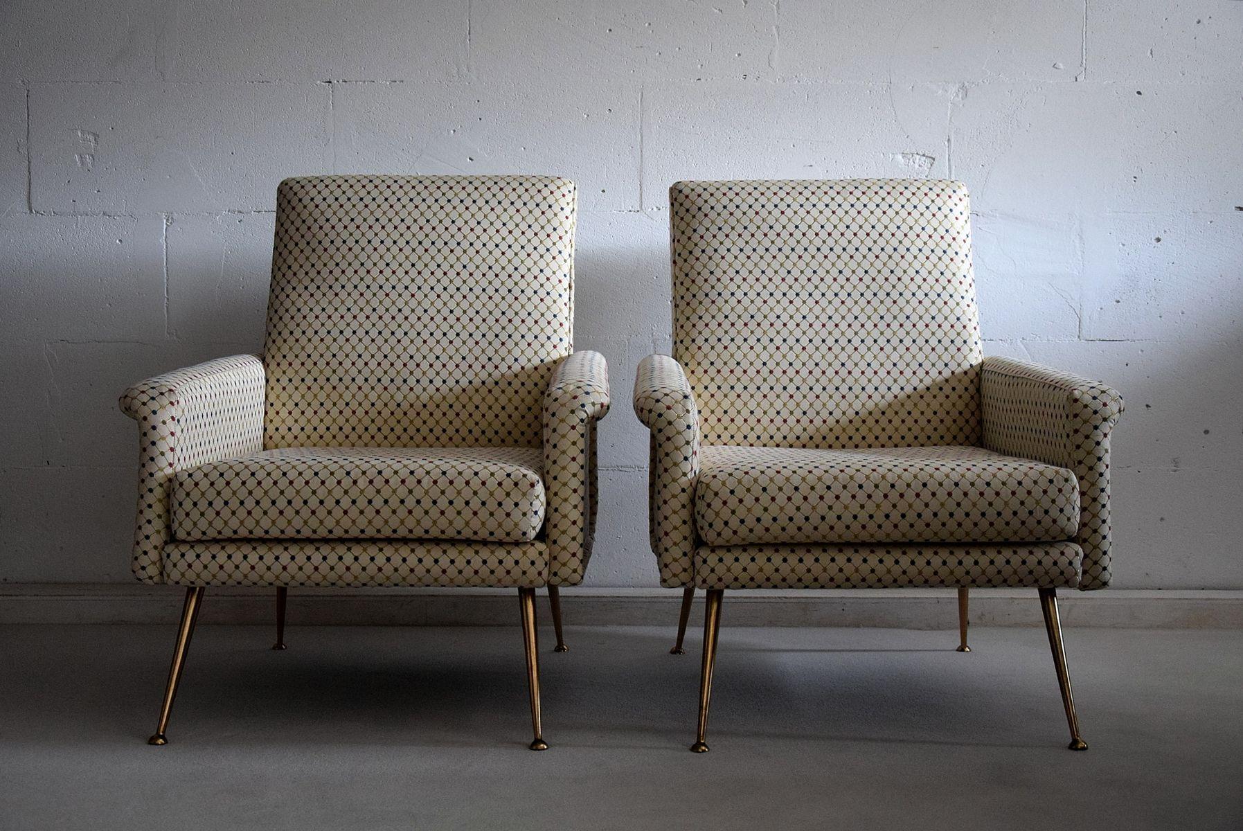 paar moderne italienische mid century sessel schmiede uwe beer. Black Bedroom Furniture Sets. Home Design Ideas