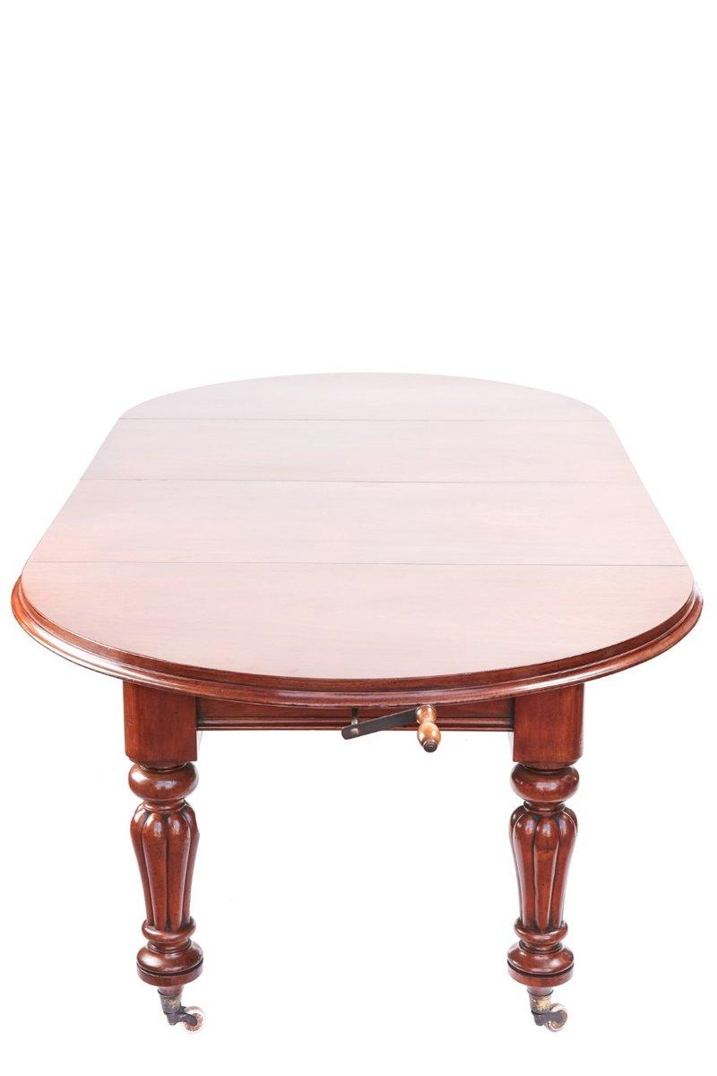 Table De Salle à Manger Victorienne Circulaire Extensible