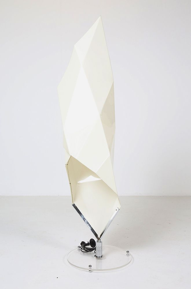 Vintage Stehlampe aus Kunststoff & Metall, 1960er