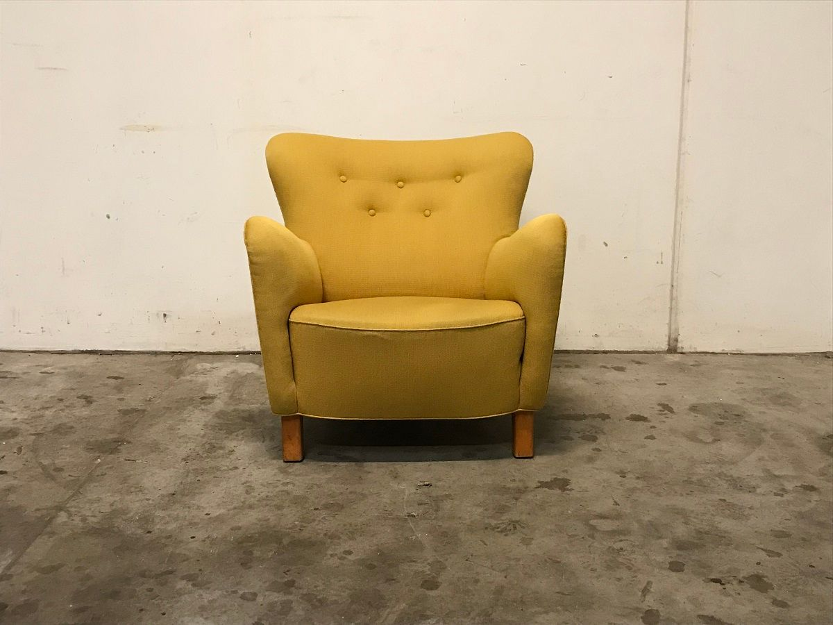 Vintage Modell 1669 Sessel von Fritz Hansen, 1940er