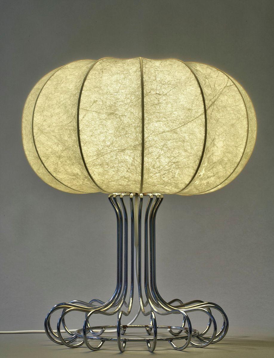 Vintage Tischlampe aus verchromtem Metall von Achille Castiglioni