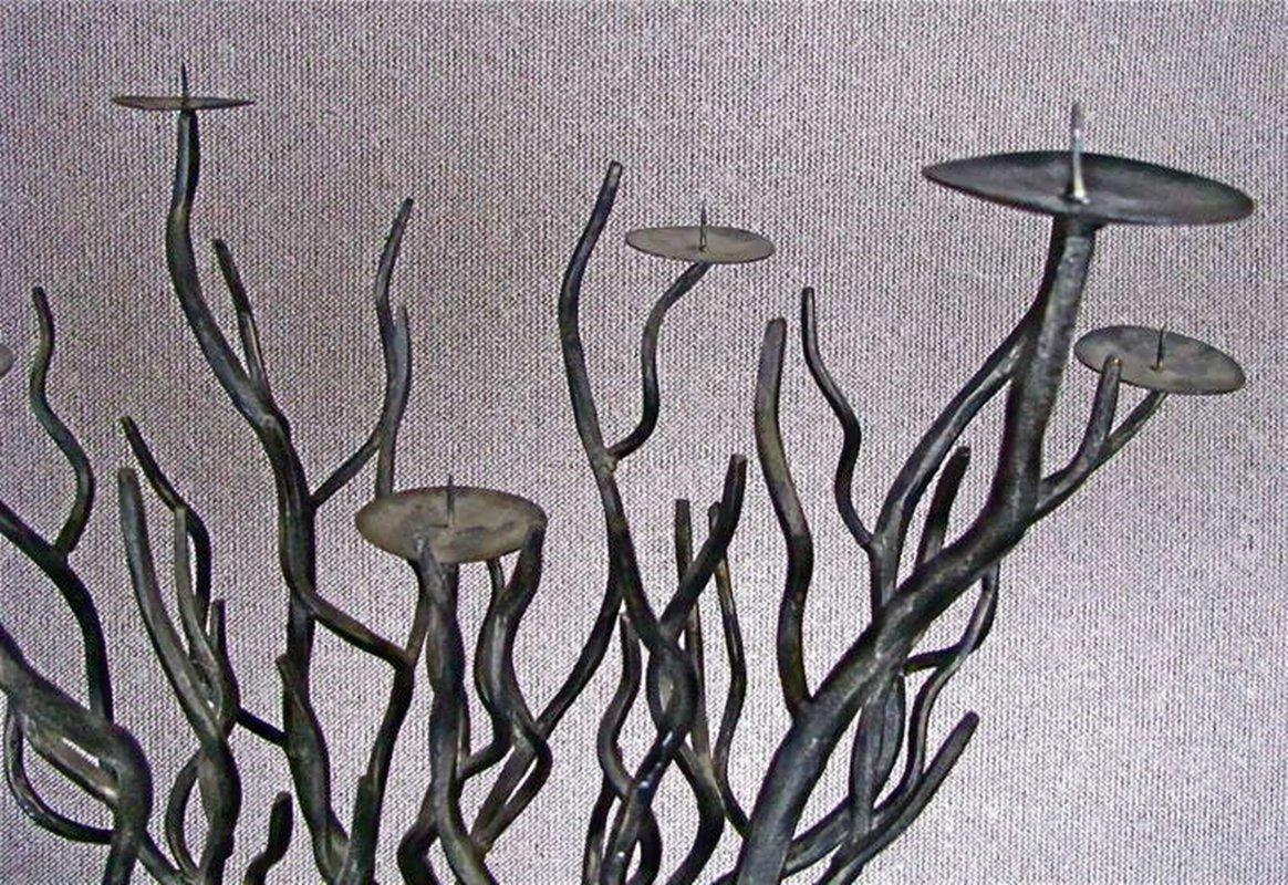 Tree Shaped Wrought Iron Candleholders, 1940s, Set Of 2