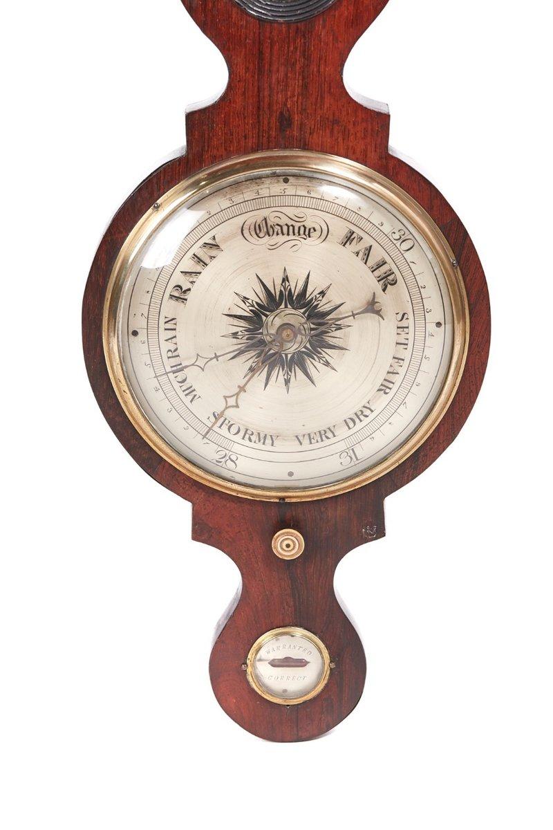 Large Antique Rosewood Banjo Barometer For Sale At Pamono