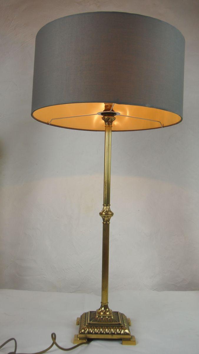Lampe De Bureau Empire Vintage En Laiton Dore 1970s En Vente Sur Pamono