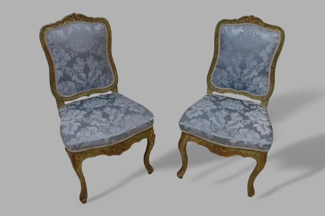 chaises d 39 appoint 18 me si cle set de 2 en vente sur pamono. Black Bedroom Furniture Sets. Home Design Ideas