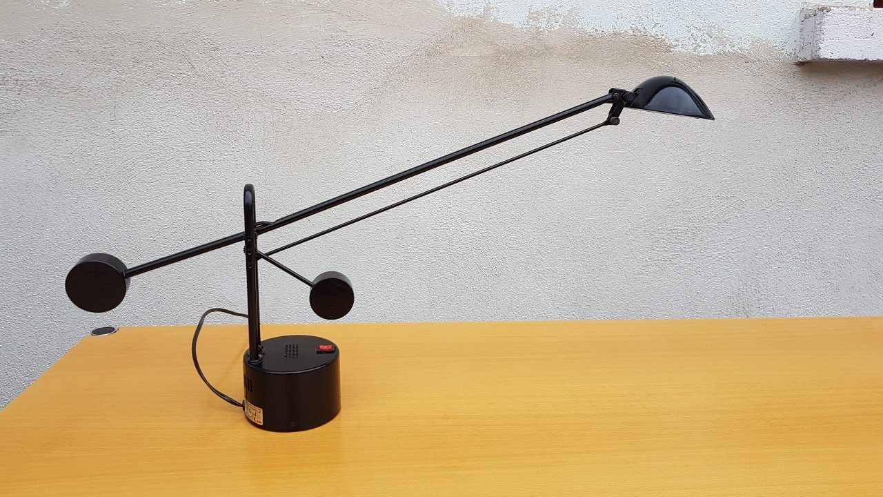 Italienische Vintage Pendel-Tischlampe Stilplast, 1980er