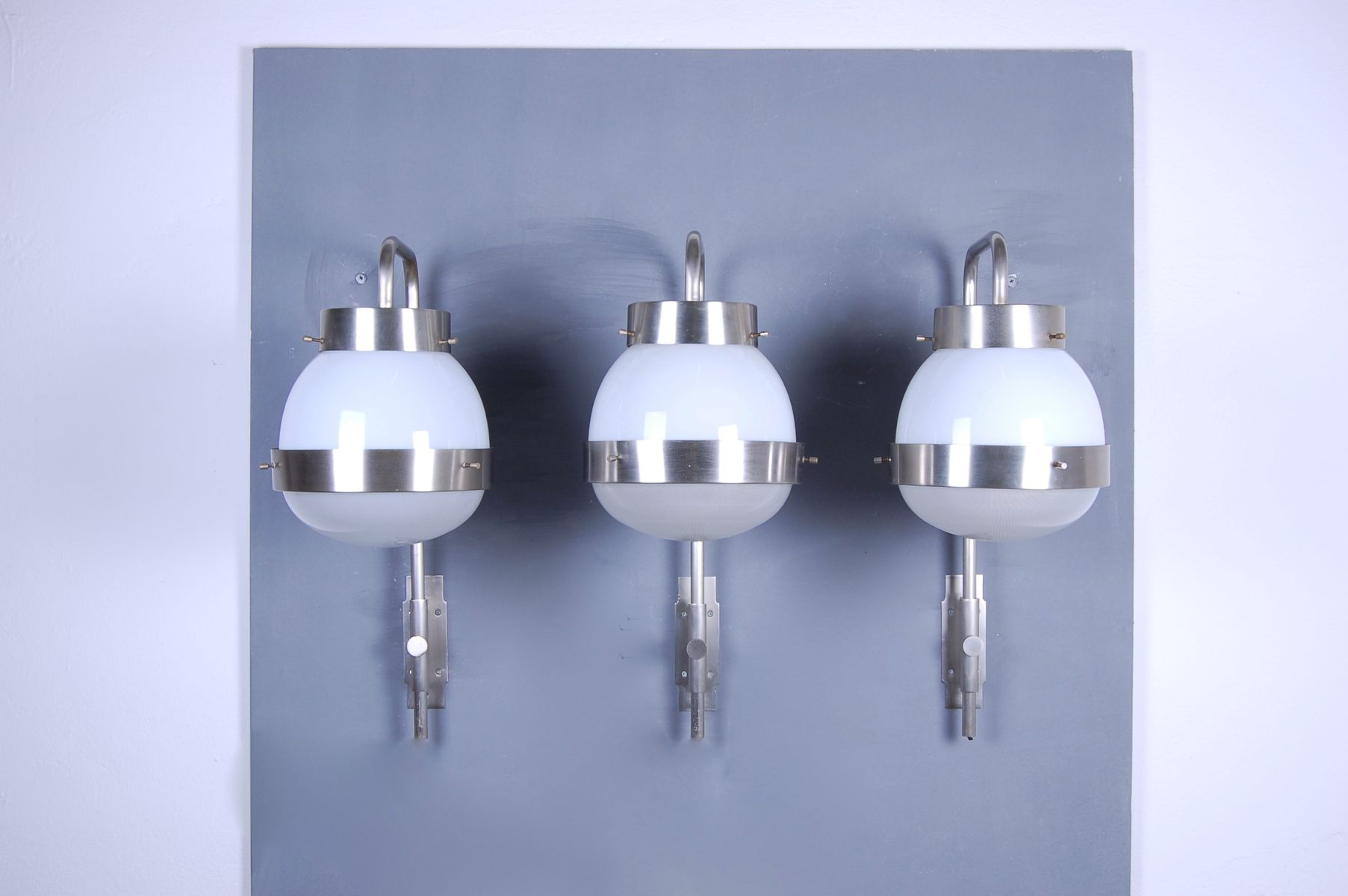 Modell Delta Wandlampen von Sergio Mazza für Artemide, 1960er, 3er Set
