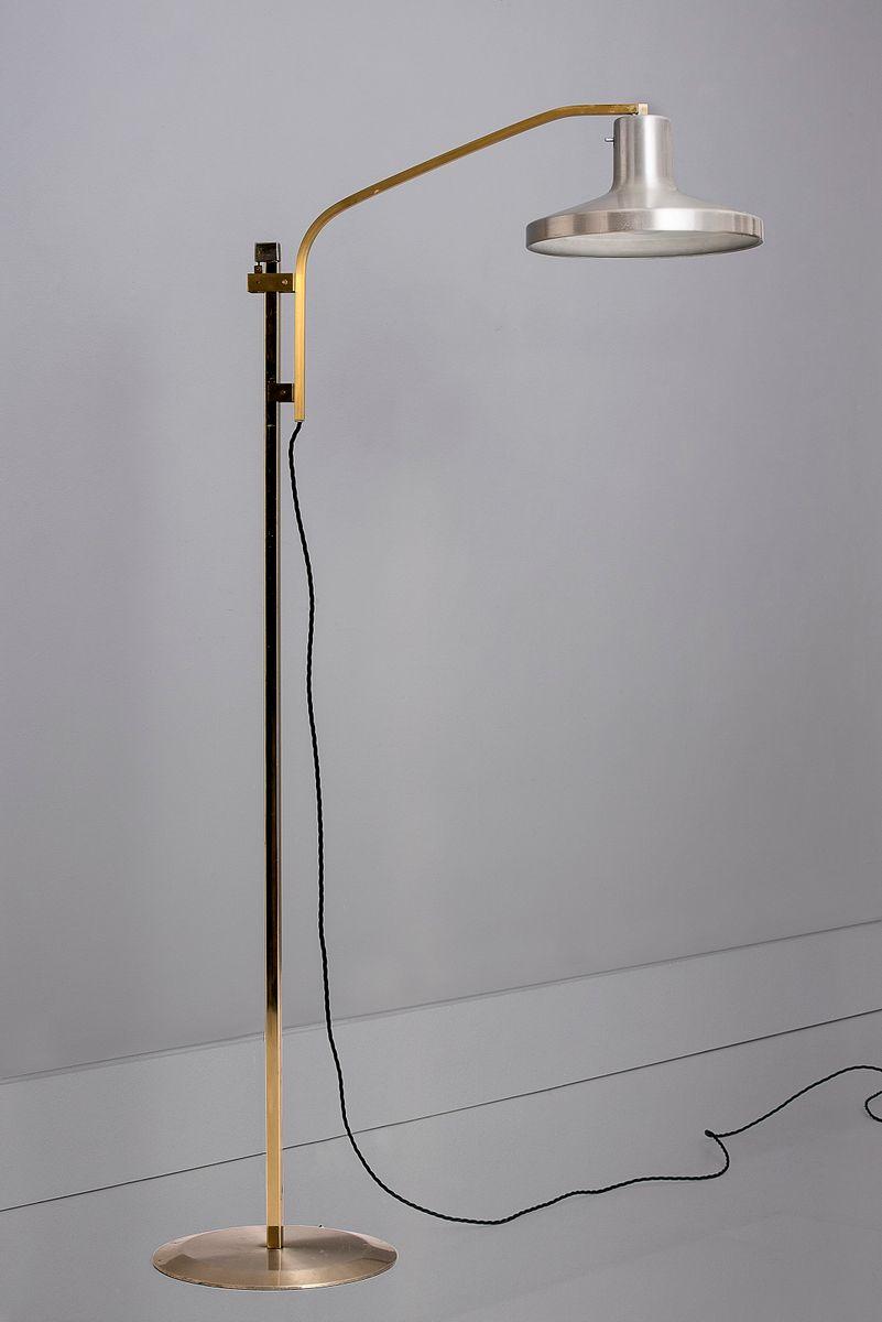 Skandinavische Mid-Century Stehlampen mit Gegengewicht, 2er Set