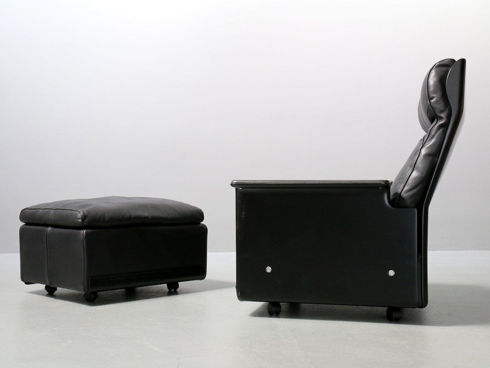 620 ledersessel hocker von dieter rams f r vitsoe 1980er bei pamono kaufen. Black Bedroom Furniture Sets. Home Design Ideas