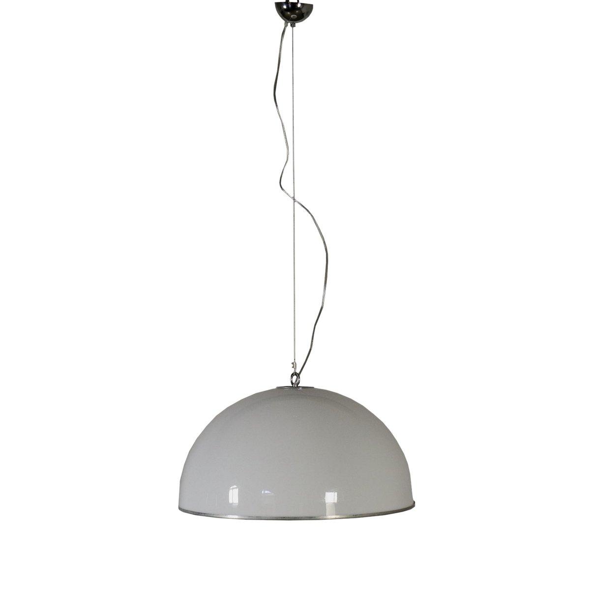 Italienische Deckenlampe aus Aluminium & Plexiglas, 1960er