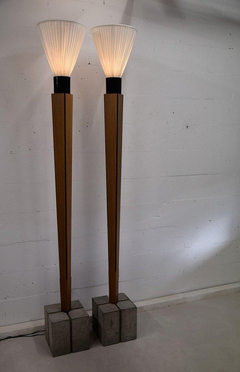 Stehlampen im Art Deco Stil von Bert Verwey, 2000er, 2er Set