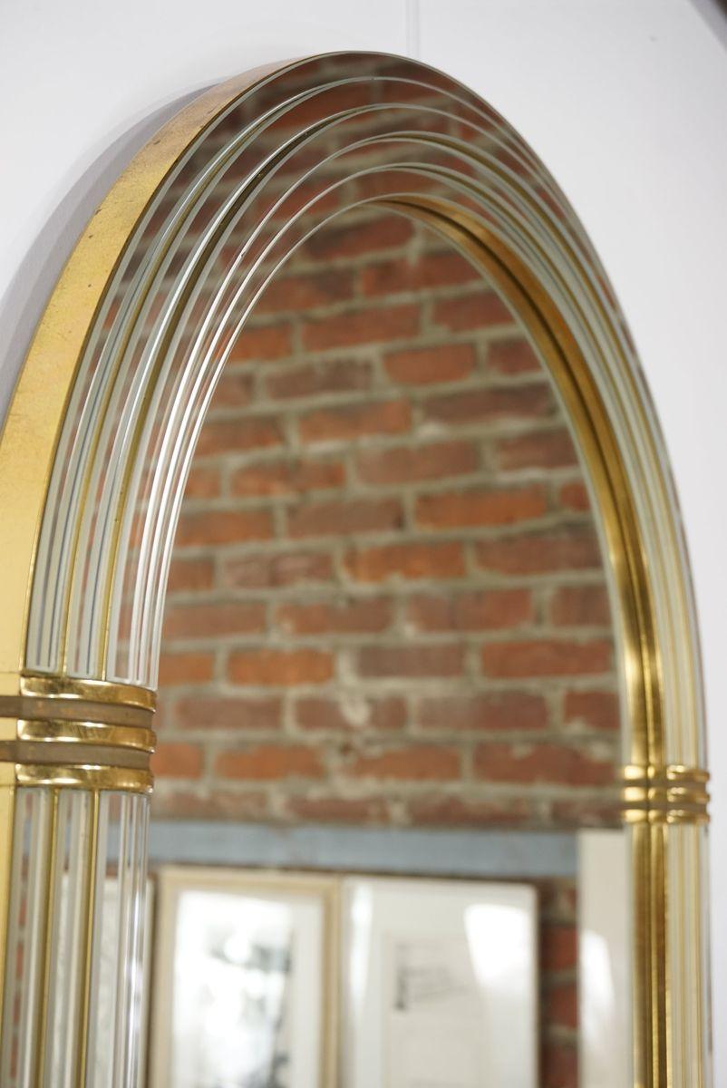 spiegel im art deco stil mit bogenf rmigem rahmen von. Black Bedroom Furniture Sets. Home Design Ideas