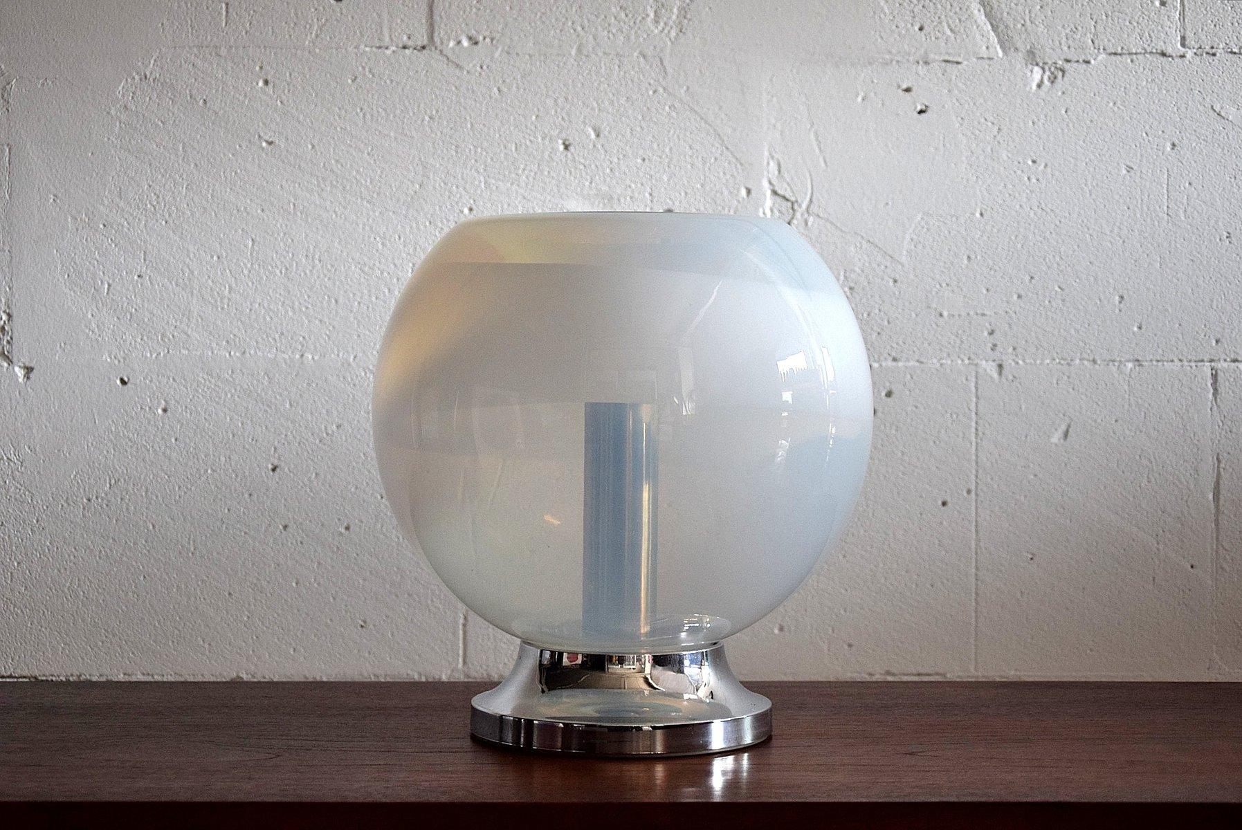 vintage tischlampe aus handgeblasenem glas von mazzega fahrschulen heins. Black Bedroom Furniture Sets. Home Design Ideas