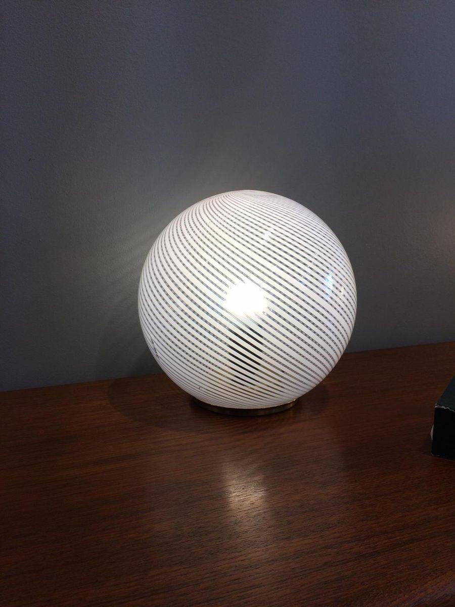 Vintage Tessuto Lampe aus Muranoglas von Venini