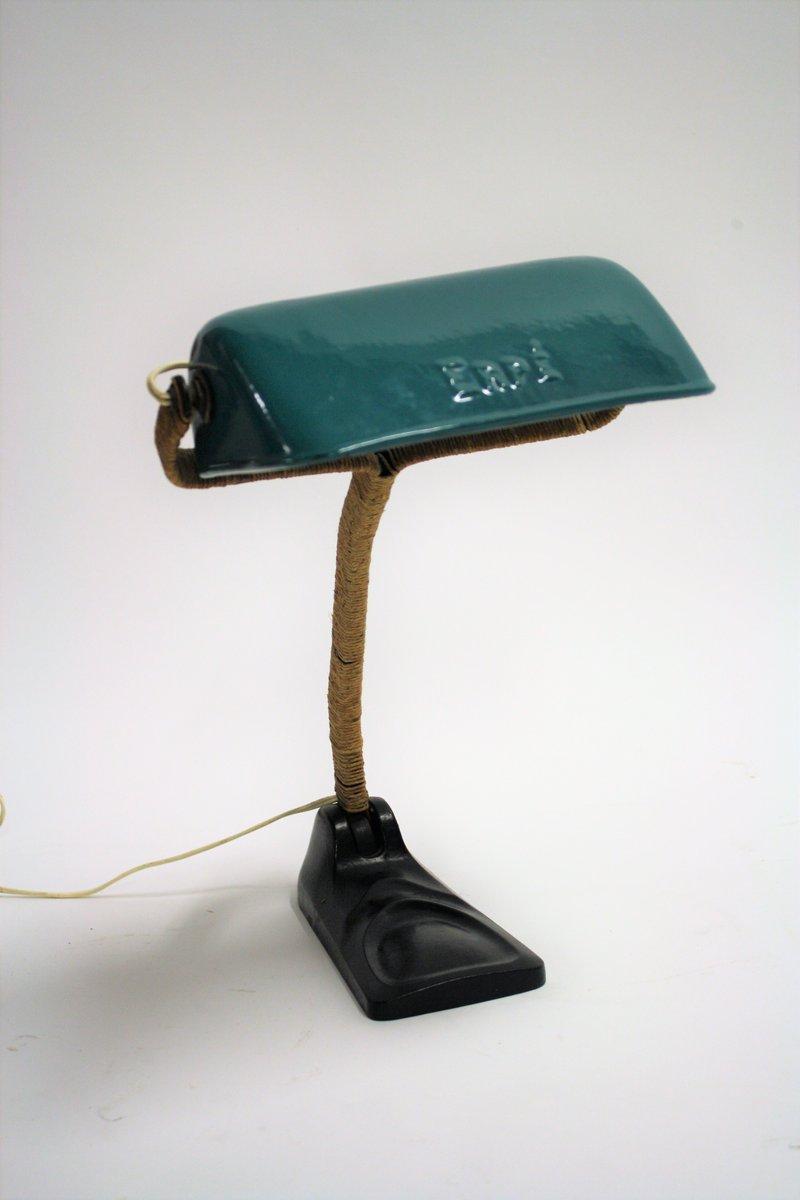 Emaillierte Schreibtischlampe von Erpe, 1930er