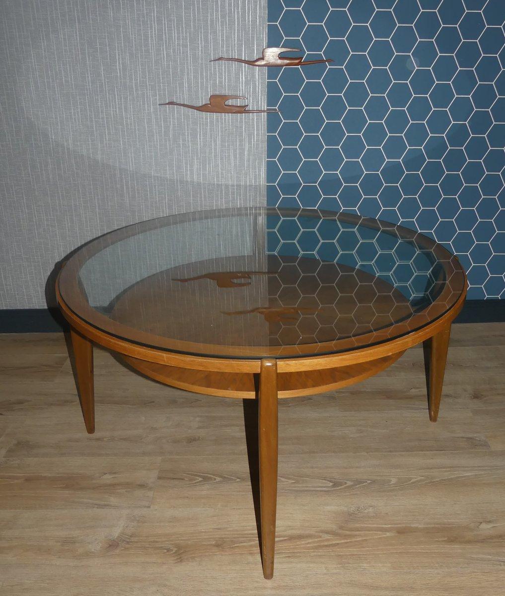 eleganter couchtisch aus glas holz 1960er pmdistribution. Black Bedroom Furniture Sets. Home Design Ideas