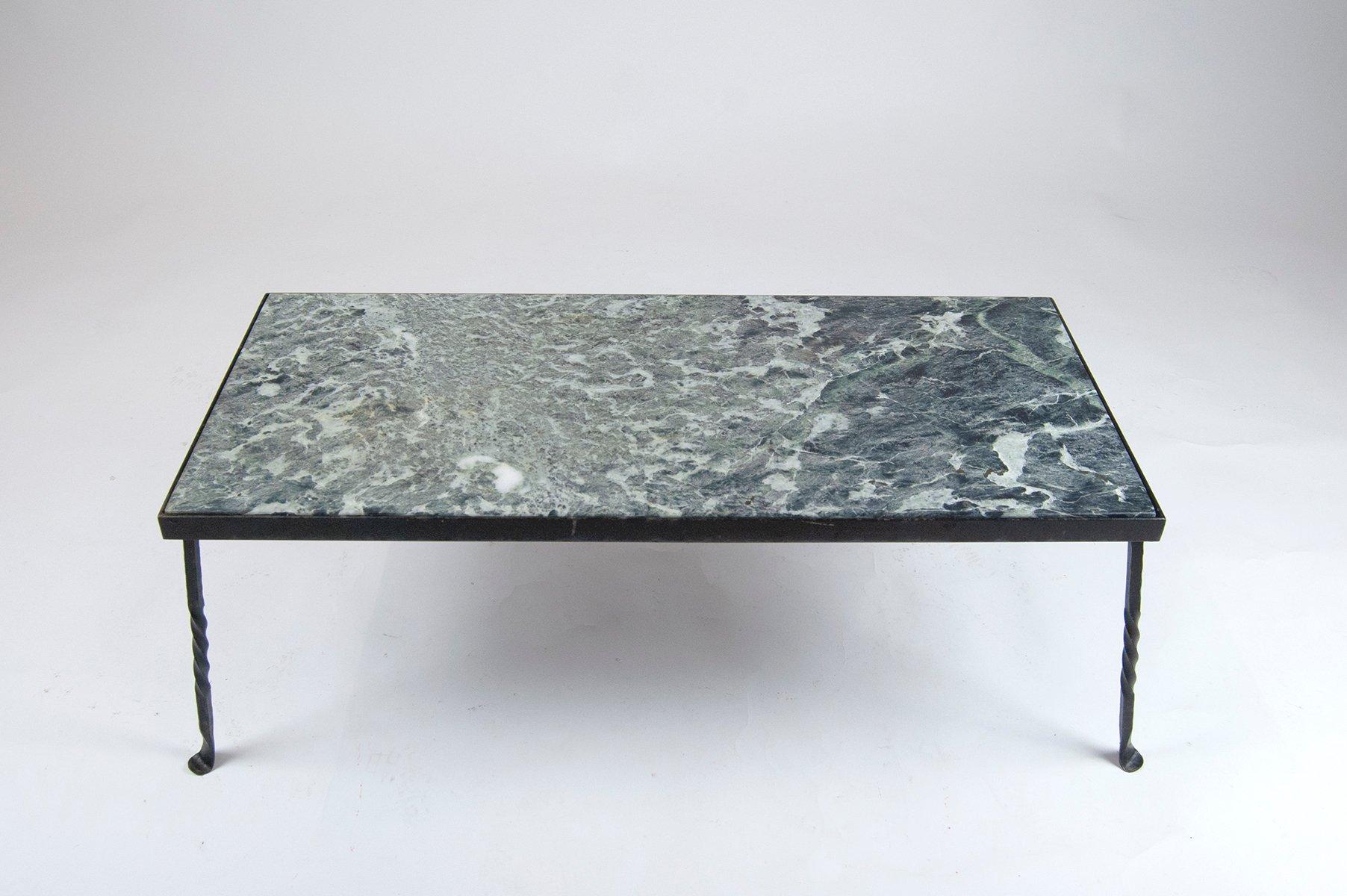 Mid century gartentisch aus schmiedeeisen und marmor for Gartentisch marmor
