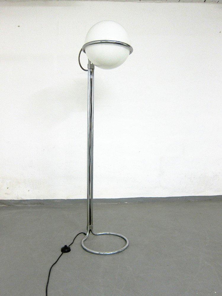Space Age Stehlampe aus Chrom & Glas von Kaiser, 1960er