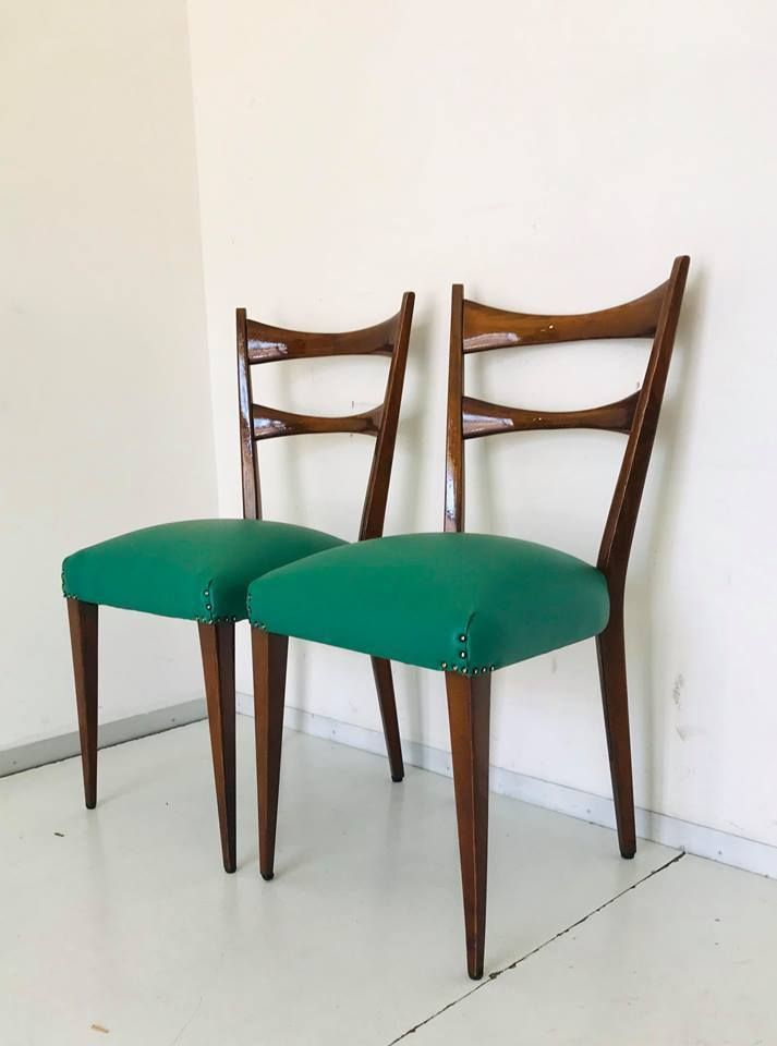 Sillas de comedor italianas de Paolo Buffa, años 50. Juego de 6