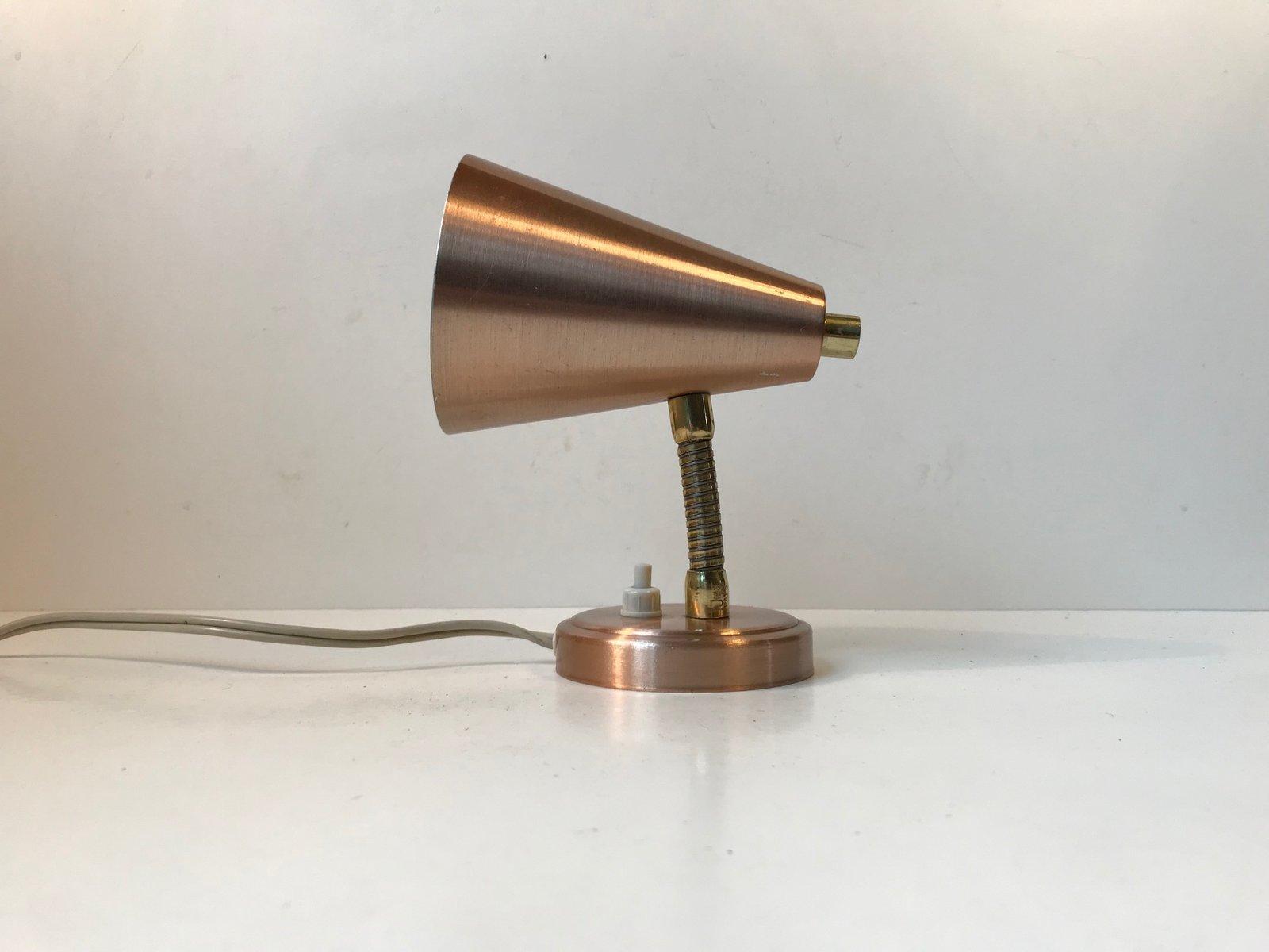 Mid-Century Wandlampe aus Kupfer & Messing von E.S. Horn, 1960er