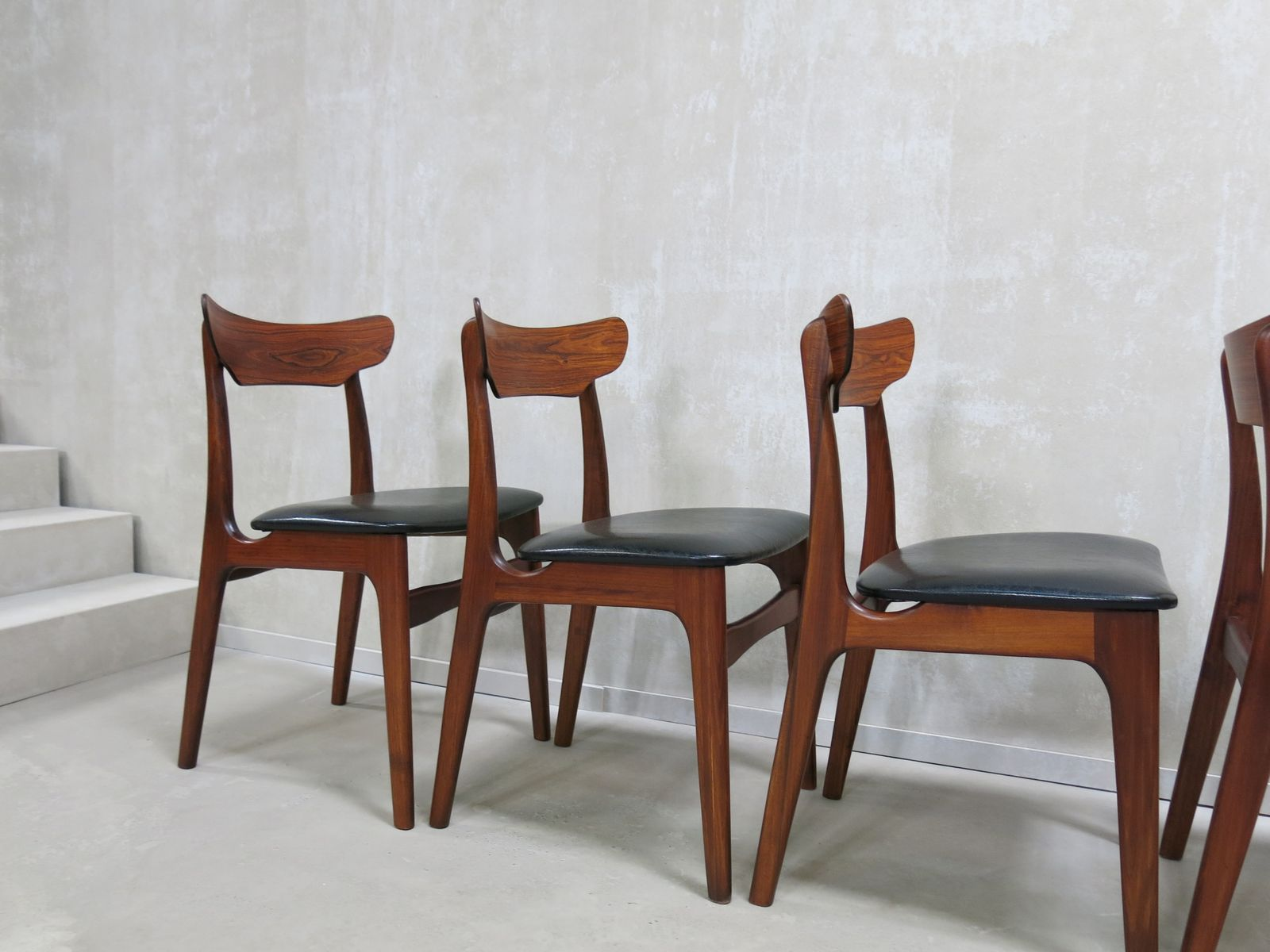 Rosewood Amp Teak Dining Chairs By Schionning Amp Elgaard