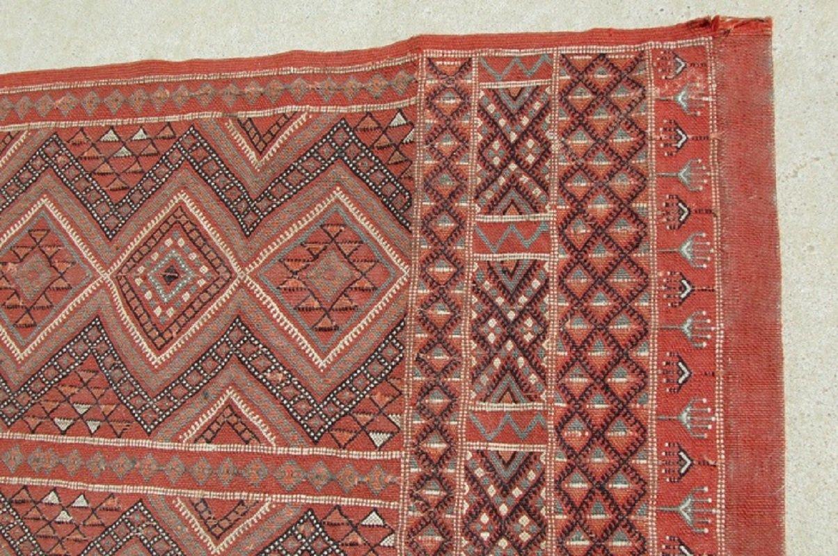Grand Tapis Kilim Berbere En Laine Maroc 1960s En Vente Sur Pamono