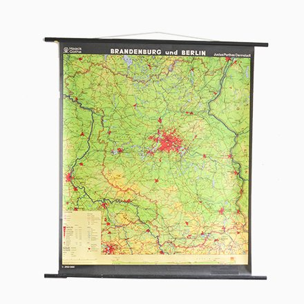 Vintage Berlin Pull Down Map for sale at Pamono