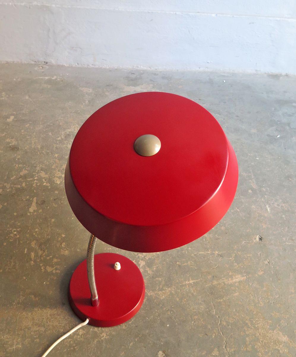 Lampe de bureau vintage flexible en m tal rouge en vente sur pamono - Lampe de bureau style anglais ...