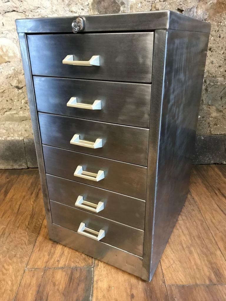 meuble de classement industriel vintage en m tal d cap en vente sur pamono. Black Bedroom Furniture Sets. Home Design Ideas