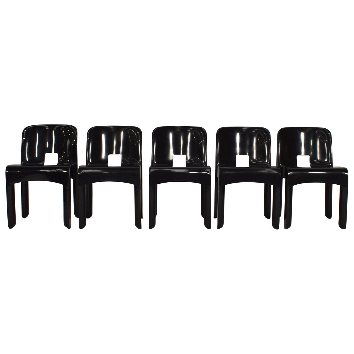 Marvelous 4867 Universale Plastic Chairs By Joe Colombo For Kartell 1967 Set Of 5 Inzonedesignstudio Interior Chair Design Inzonedesignstudiocom