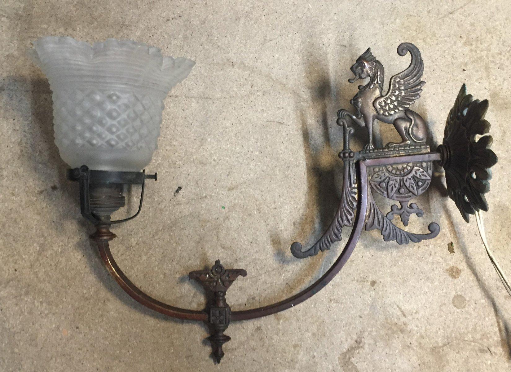 Vintage Wandlampe, 1920er