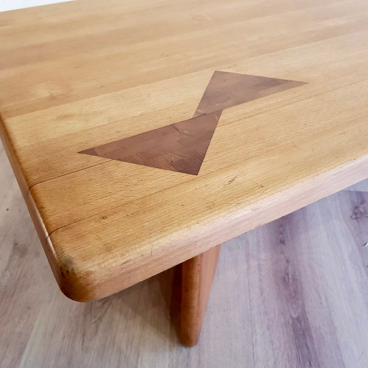 Vintage Elm & Teak Coffee Table From Seltz, 1960s For Sale