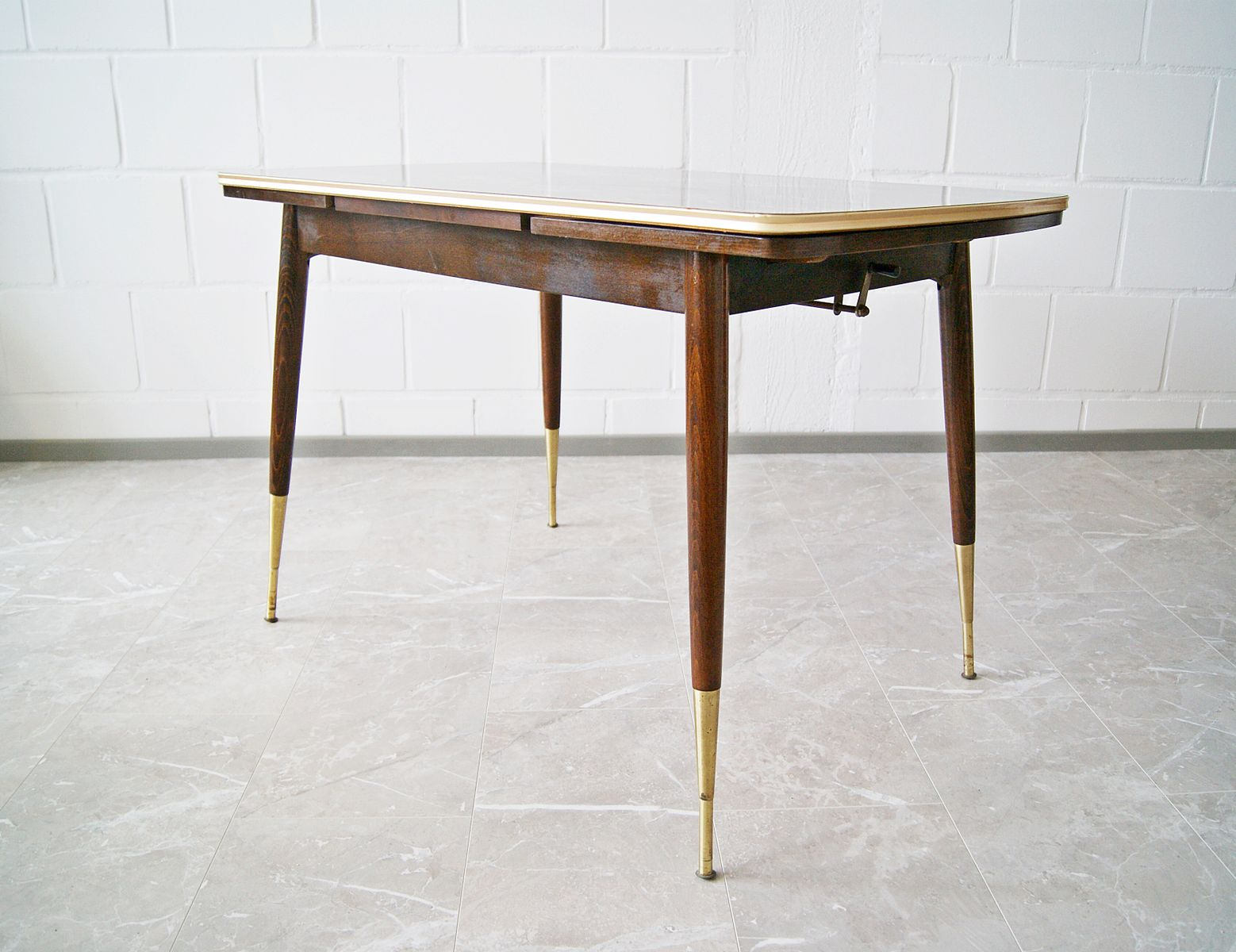 height adjustable and extendable coffee table 1950s for. Black Bedroom Furniture Sets. Home Design Ideas