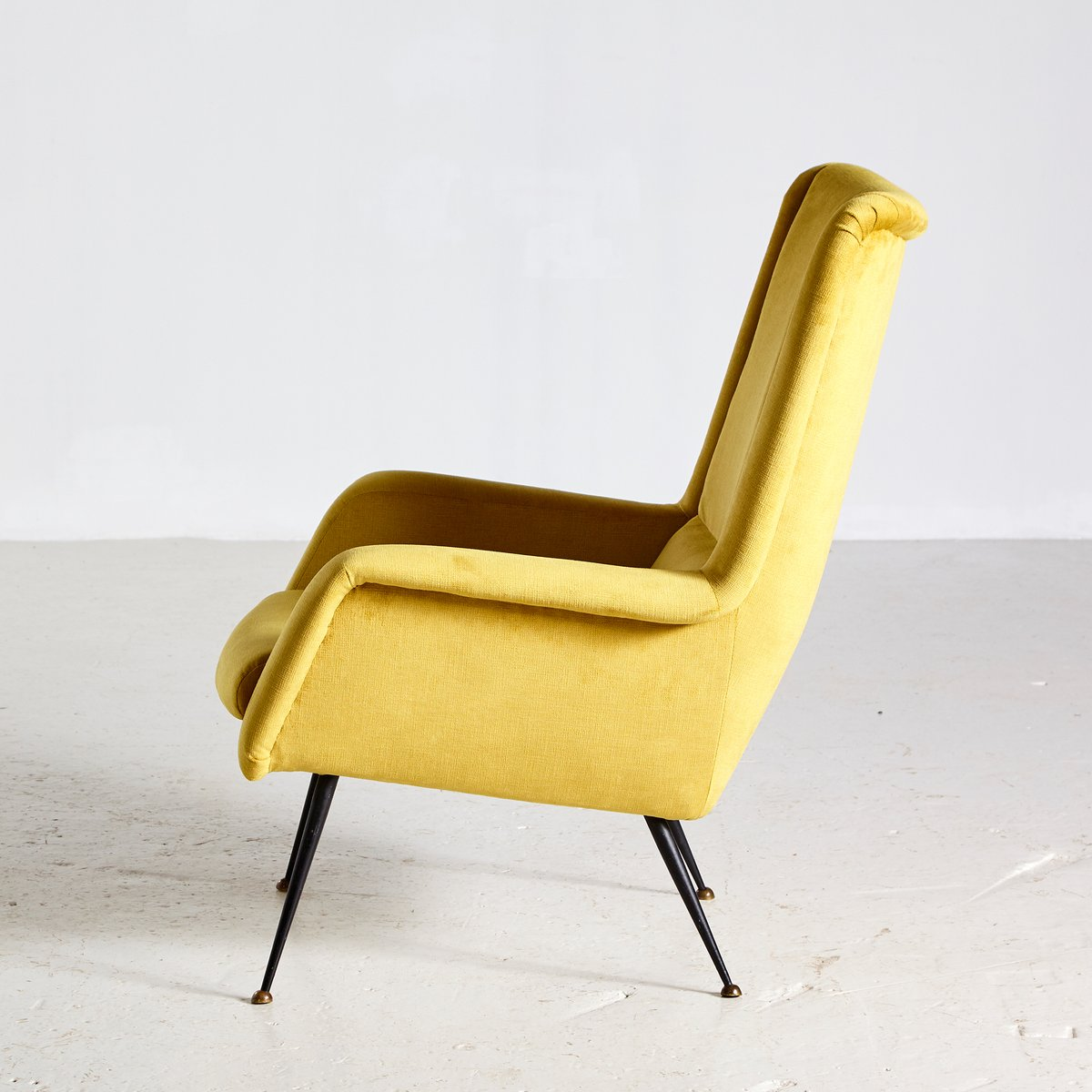 Mid Century Yellow Floating Lounge Chair: Mid-Century Danish Yellow Lounge Chair, 1960s For Sale At
