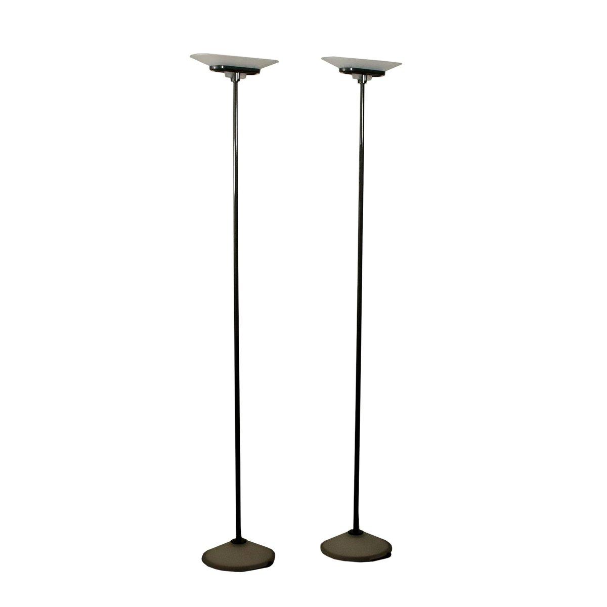 Stehlampen aus Metall & Glas von Santiago Miranda für Arteluce, 1980er...