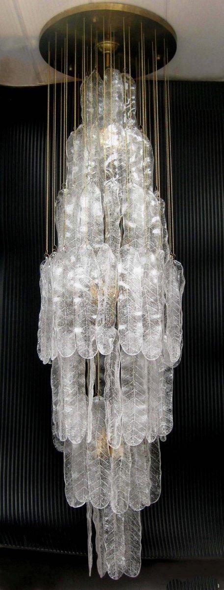Kaskaden-Kronleuchter aus Muranoglas von Mazzega, 1960er