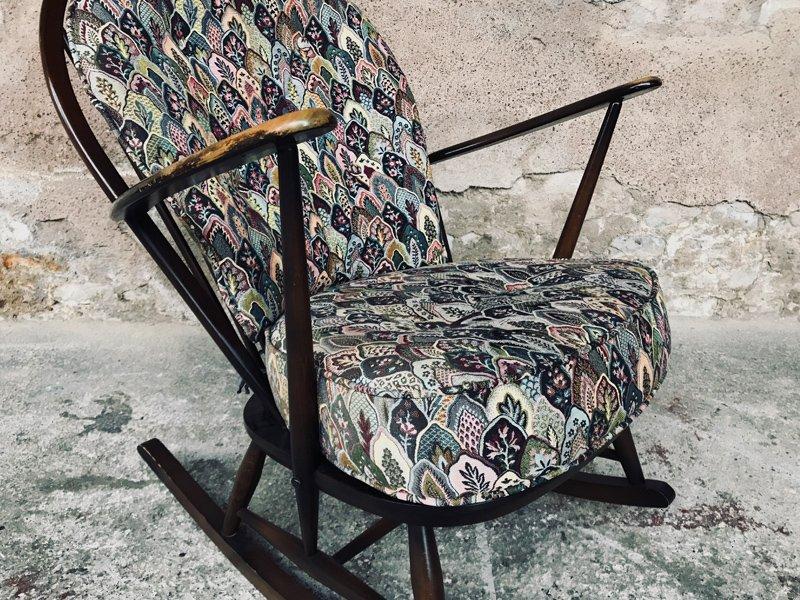 Sedia a dondolo di Lucian Ercolani per Ercol, 1956 in vendita su Pamono