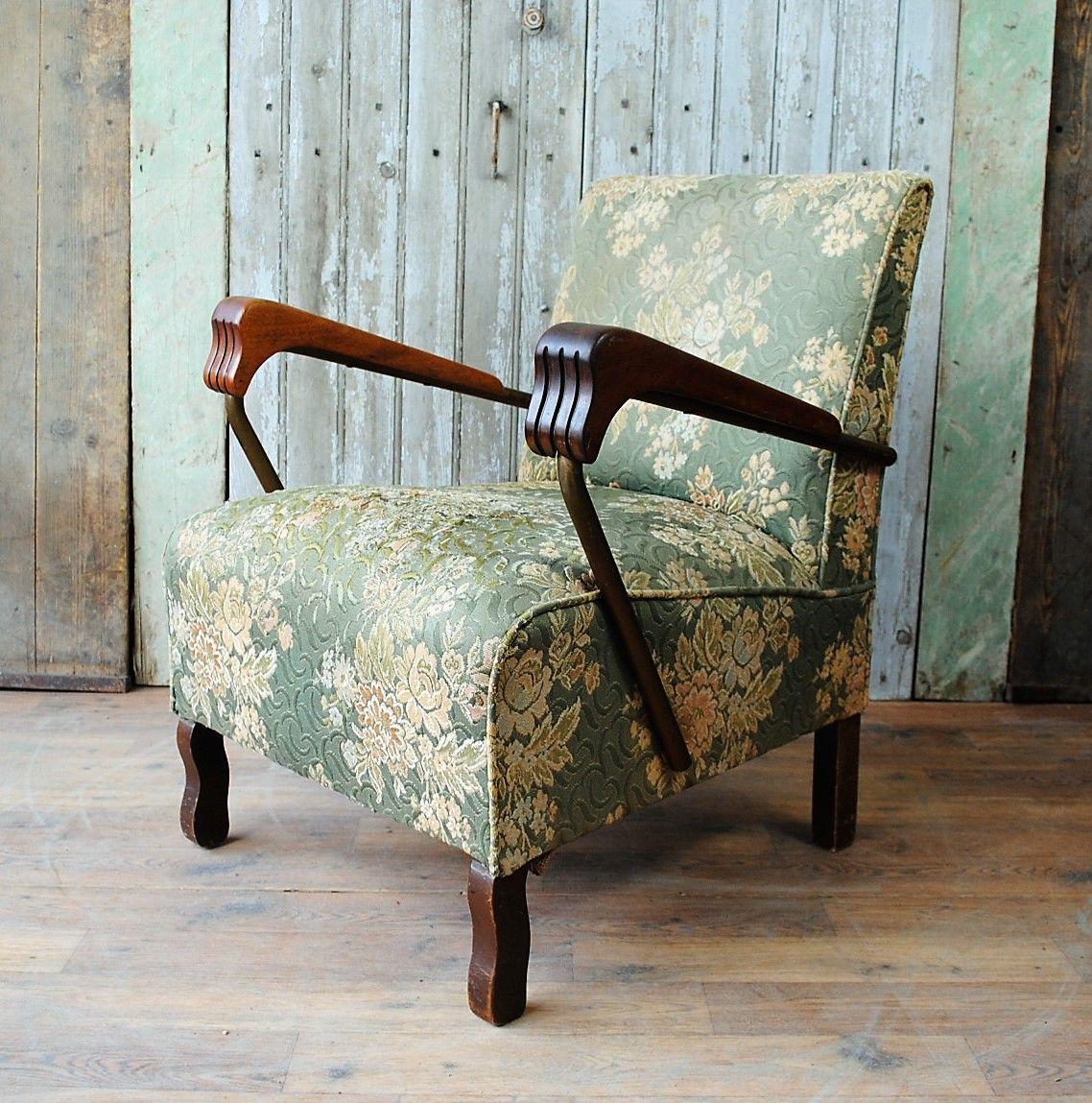 fauteuil art d co angleterre 1930s en vente sur pamono. Black Bedroom Furniture Sets. Home Design Ideas