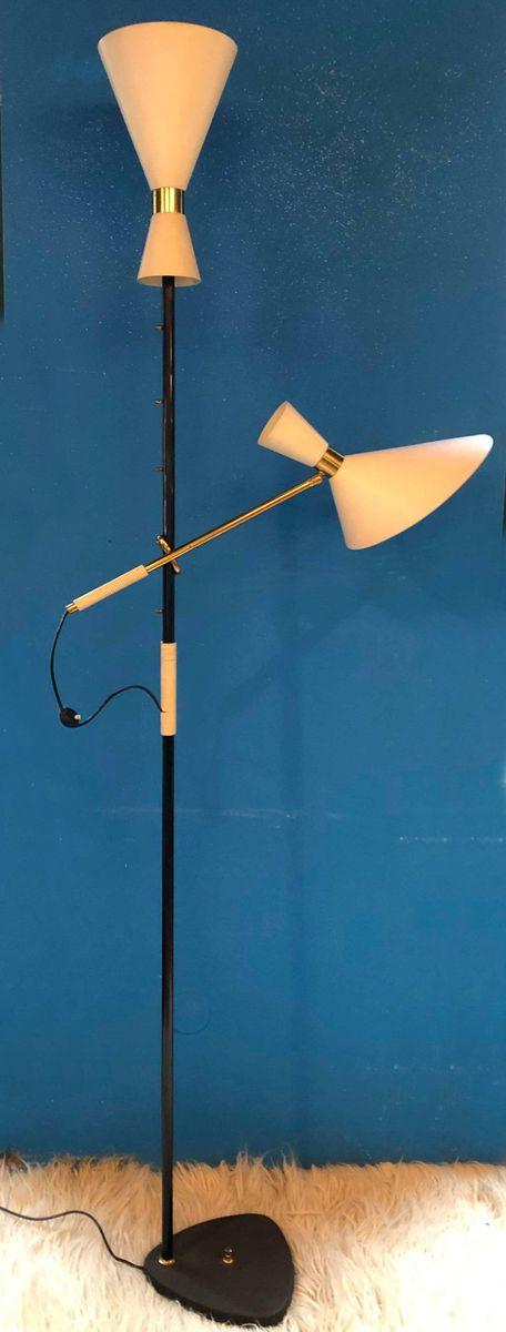 Pelikan Floor Lamp by J.T. Kalmar, 1950s