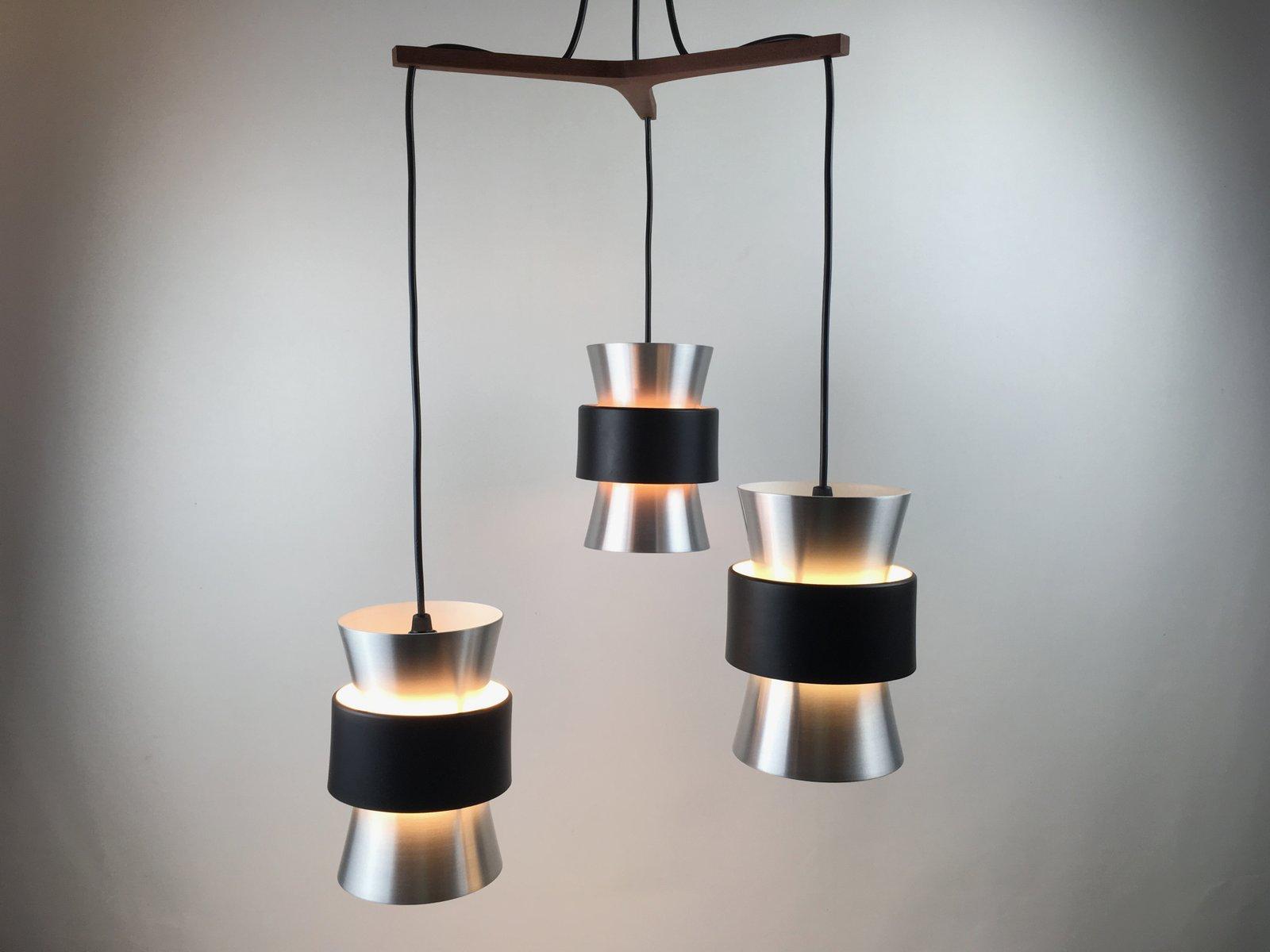 Dreiteilige Deckenlampe von Johannes Hammerborg für Fog & Mørup, 1960e...