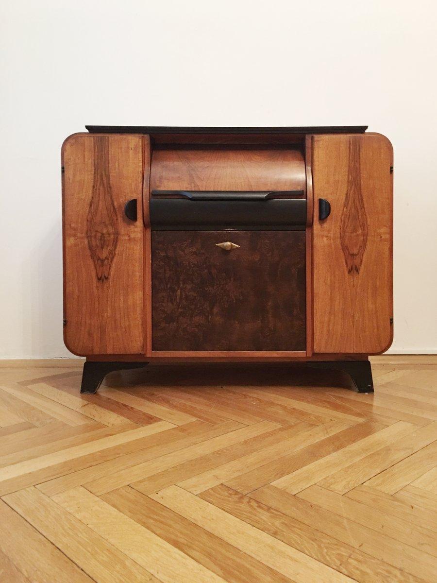 meuble tourne disque par jind ich halabala pour up z vody. Black Bedroom Furniture Sets. Home Design Ideas