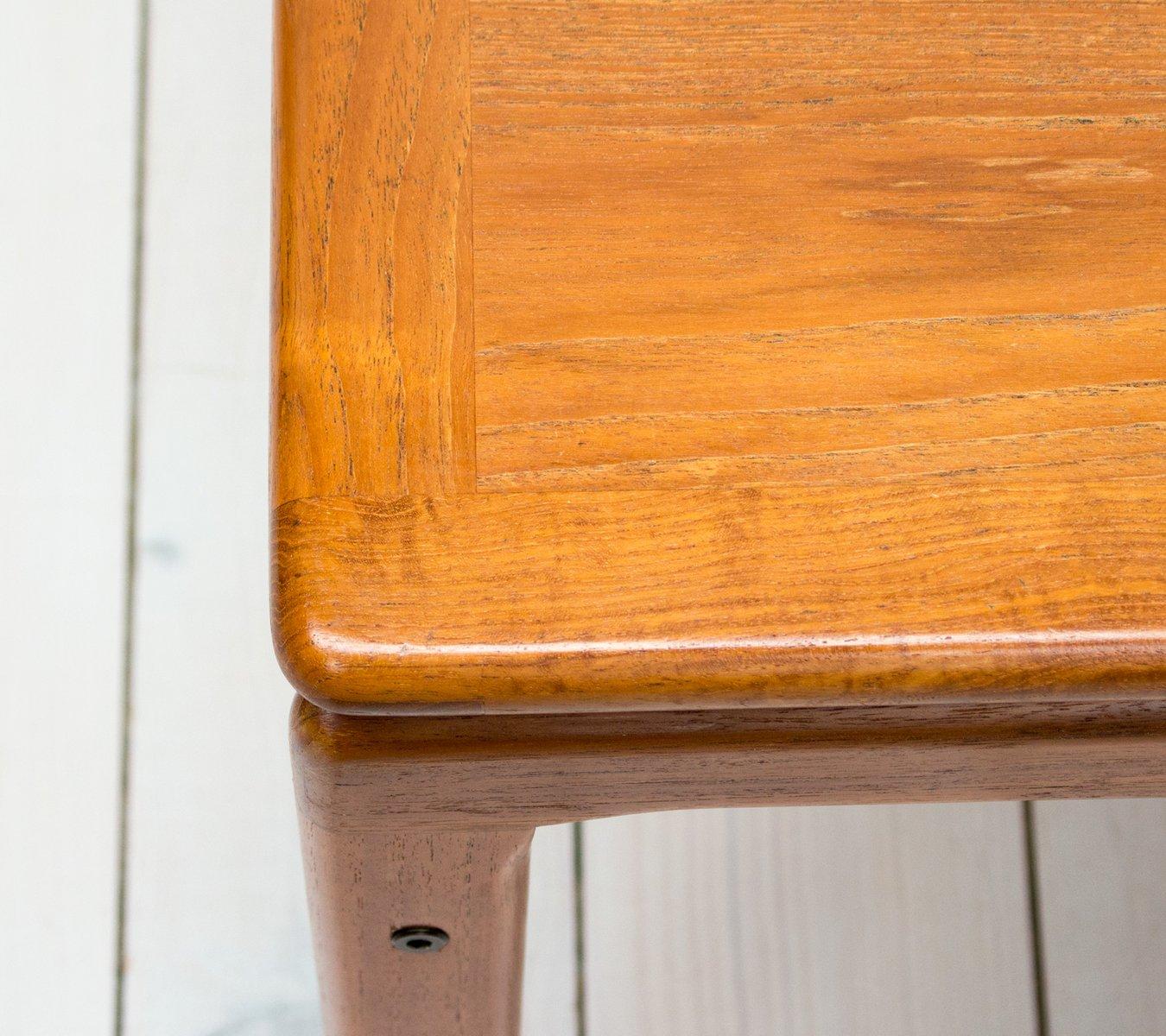 Danish Teak Square Coffee Table From Trioh, 1960s En Vente