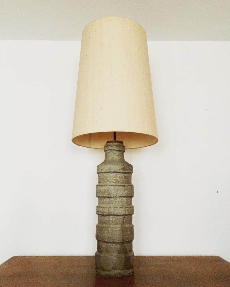 Monumentale brutalistische Stehlampe aus Keramik, 1960er