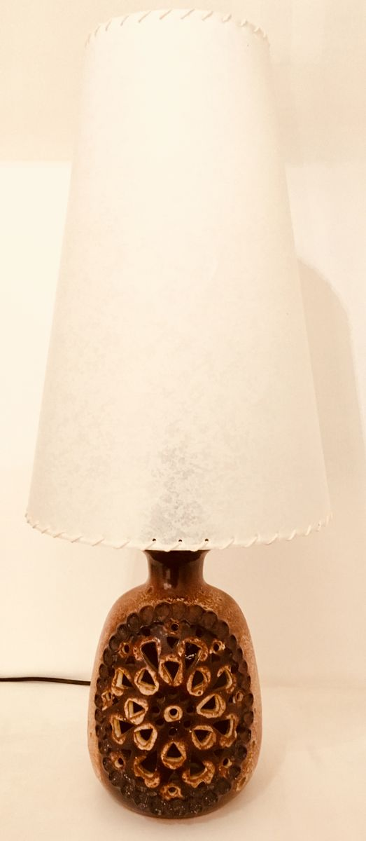 Vintage Double Light Ceramic Table Lamp For Sale At Pamono