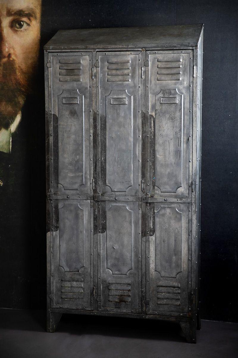 Industrieller Vintage Metallspind von Gantois