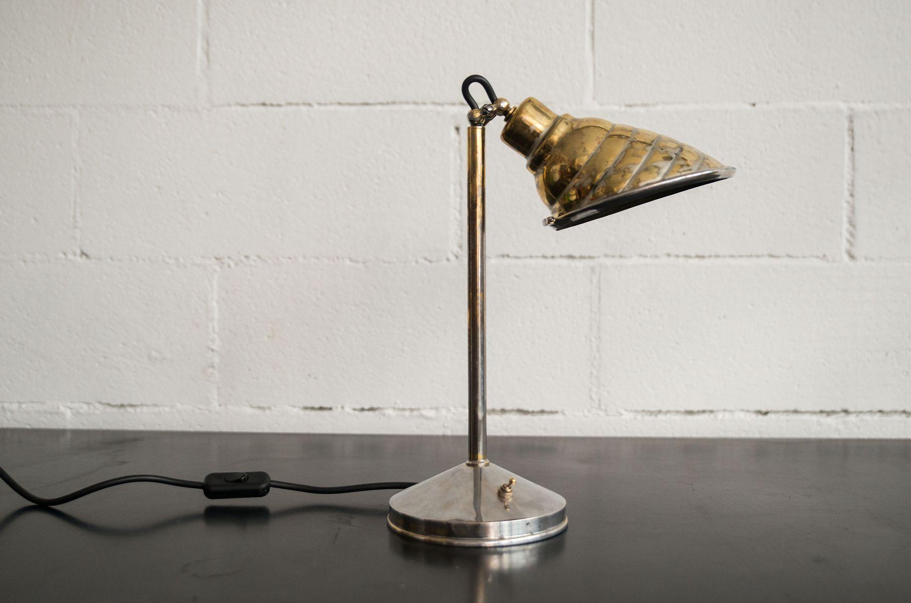 Lampe de bureau vintage en laiton 1940s en vente sur pamono - Lampe de bureau style anglais ...
