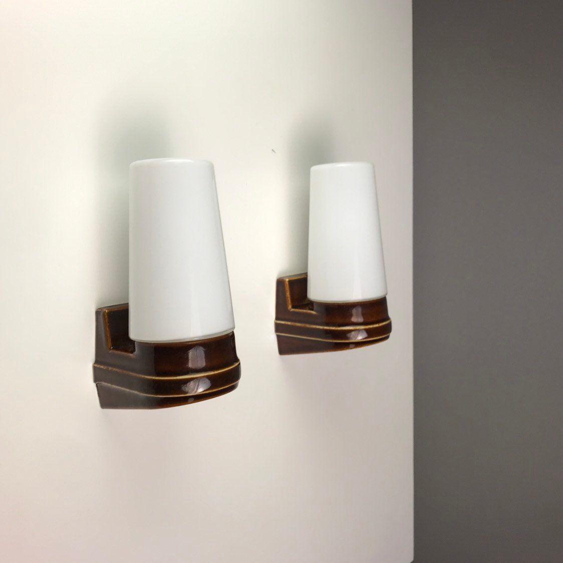 Skandinavische Vintage Wandlampen im Bohemian-Stil von IFÖ, 2er Set