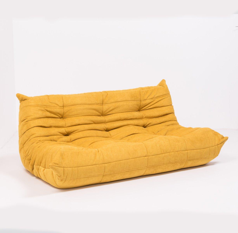 grand canap togo en tissu jaune par michel ducaroy pour ligne roset 1970s en vente sur pamono. Black Bedroom Furniture Sets. Home Design Ideas